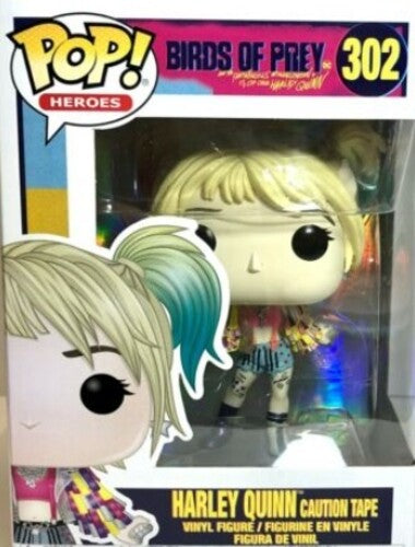 FUNKO POP! HEROES Birds of Prey Harley Quinn (Caution Tape) in stock