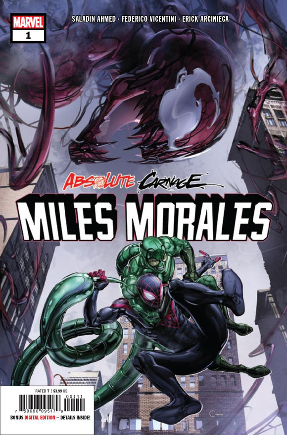 Absolute Carnage Miles Morales #1 A Crain VF+/NM+