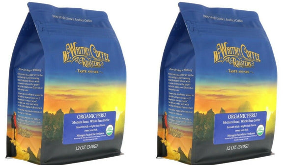 Organic Peru Medium Roast Coffee by Mt. Whitney Coffee Roasters 24 oz