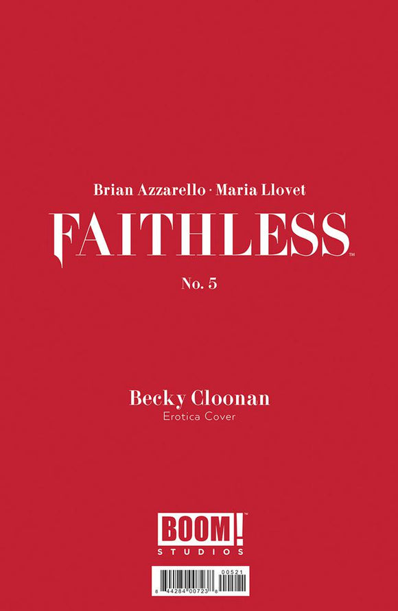 Faithless #5 B Beck Cloonan Erotica Polybag Variant NM 1st print
