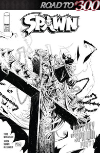 Spawn #296 C Mattina B&w Sketch Variant Nm Comic