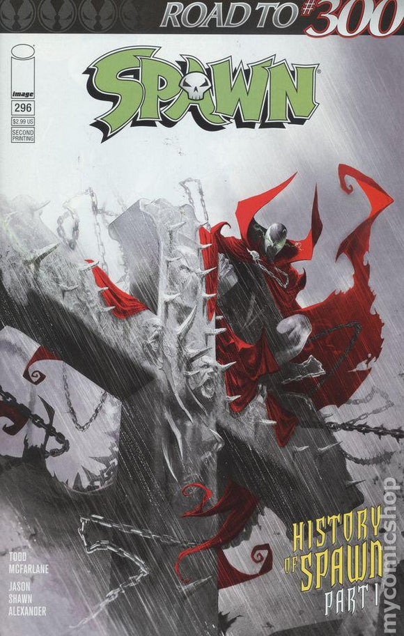 Spawn #296 D Francesco Mattina Vf+/nm+ Low 2Nd Print Comic