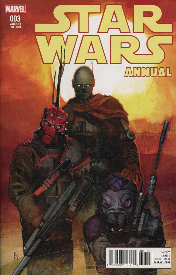 Star Wars Annual Vol 4 #3 B Rod Reis Variant Vf+/nm+ Comic