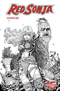 Red Sonja #1 J Black & White 1:25 Incentive Haeser R Variant Nm- Comic