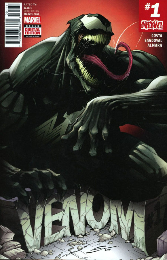 Venom Vol3 #1A Gerardo Sandoval First 1St Print Vf+/nm+ Sold Out Comic