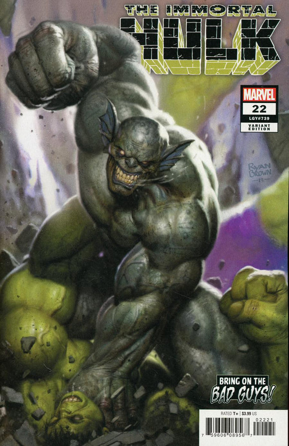 Immortal Hulk #22 B Ryan Brown Variant 1st print VF+/NM+