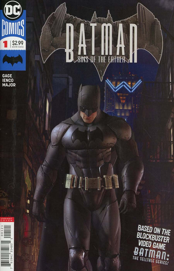 Batman Sins Of The Father #1 B Video Game Variant Nm Comic