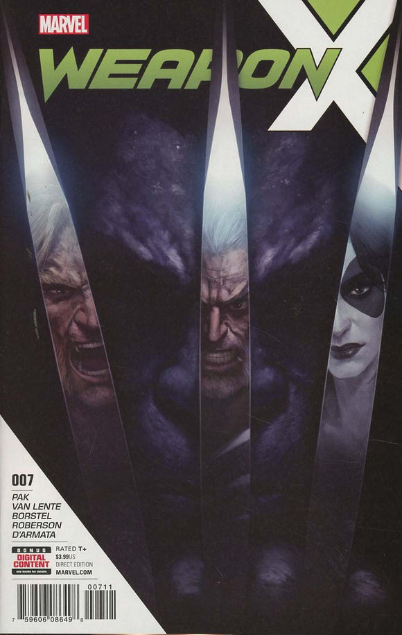 Weapon X Vol 3 #7 Skan Srisuwan Cover A First 1St Printing Vf+/nm+ Comic