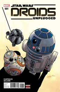 STAR WARS DROIDS UNPLUGGED #1 A Chris Eliopoulos VF+/NM+