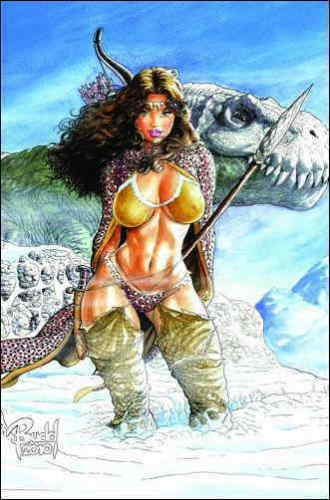 Cavewoman SNOW #1 Budd Root limited 750 COA VF+/NM+