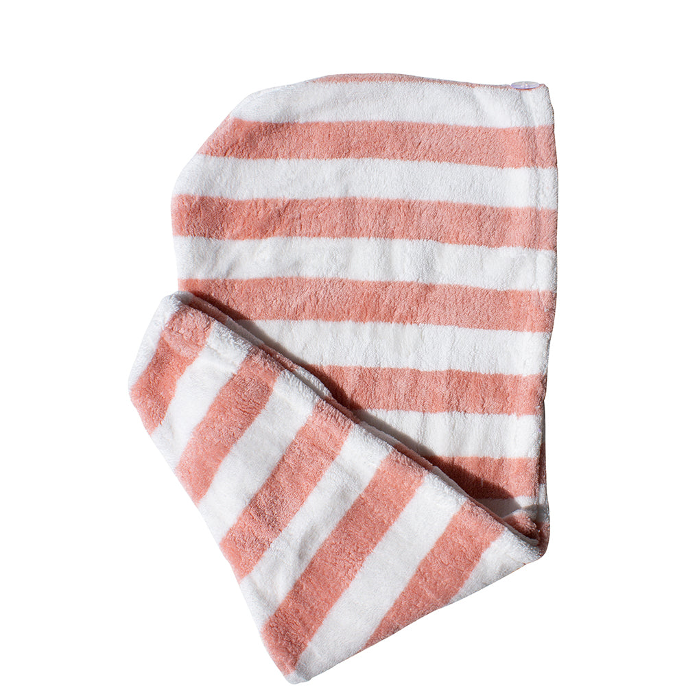 Quick Dry Hair Turban Candy Stripe