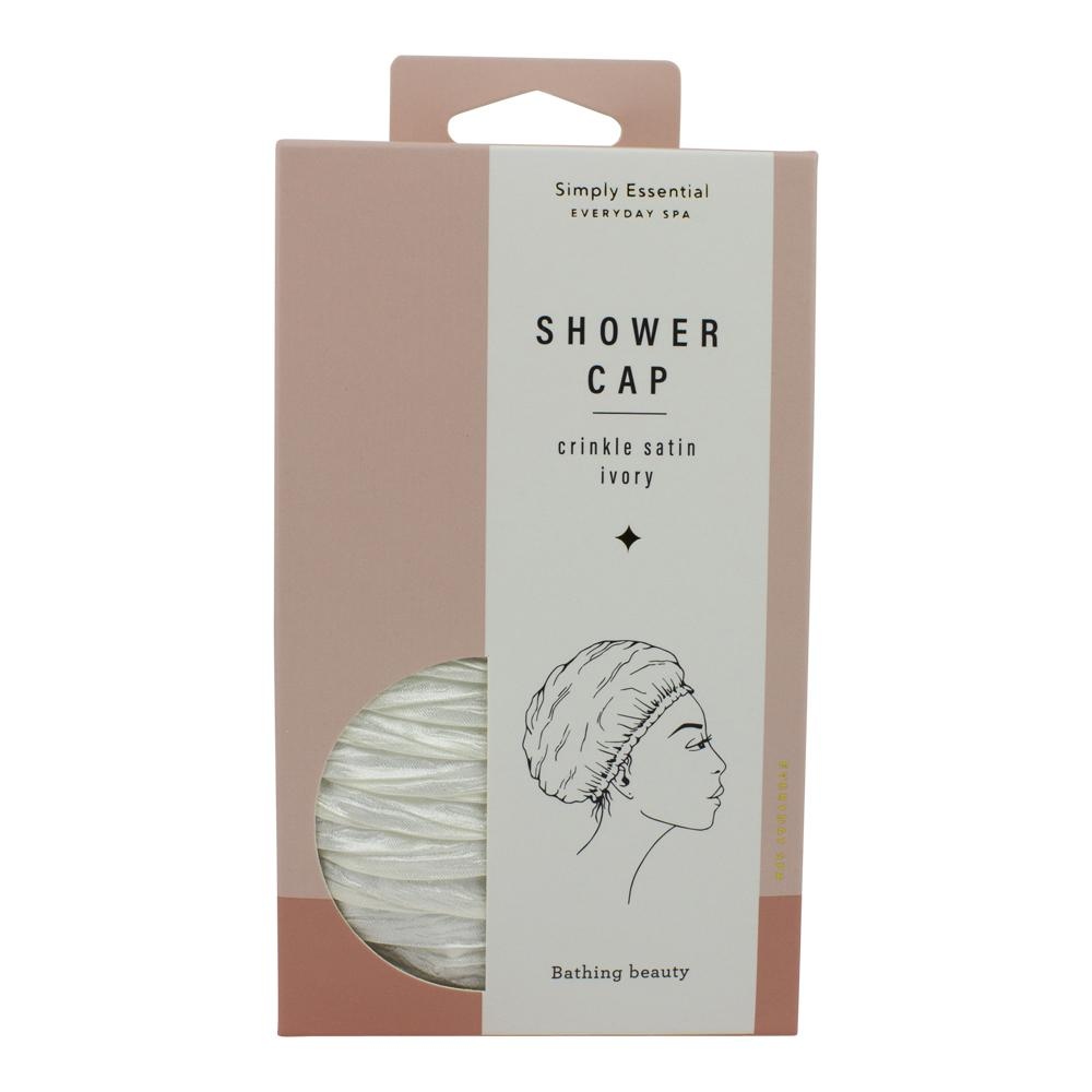 Crinkle Shower Cap Ivory