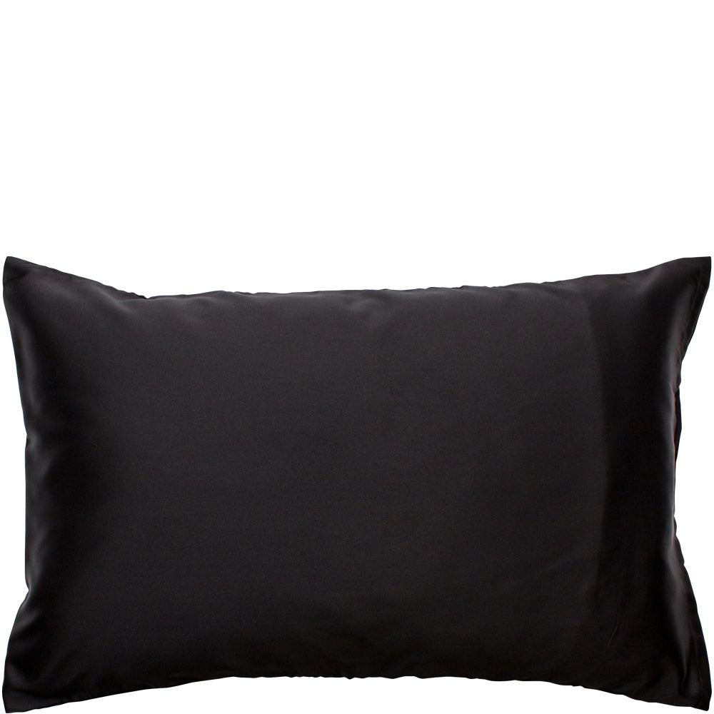 Satin Pillow Slip Black