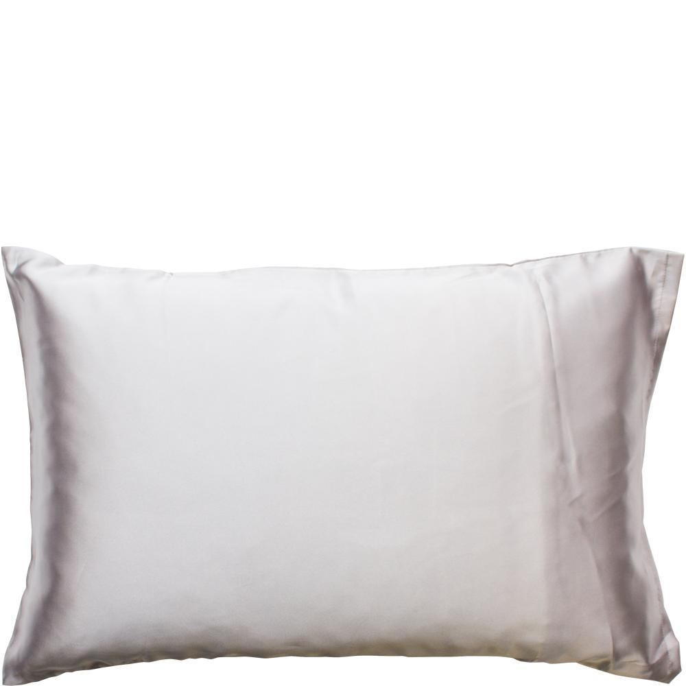 Satin Pillow Slip Silver