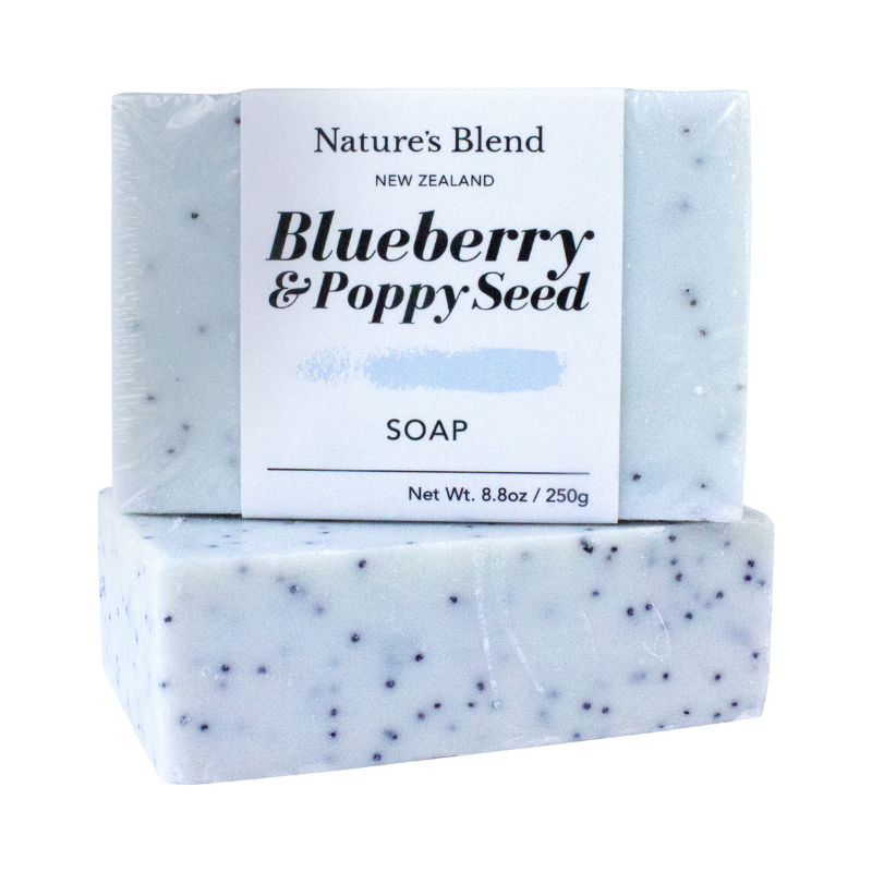 Nature's Blend Soap Bar Blueberry & Poppy Seed - 250g