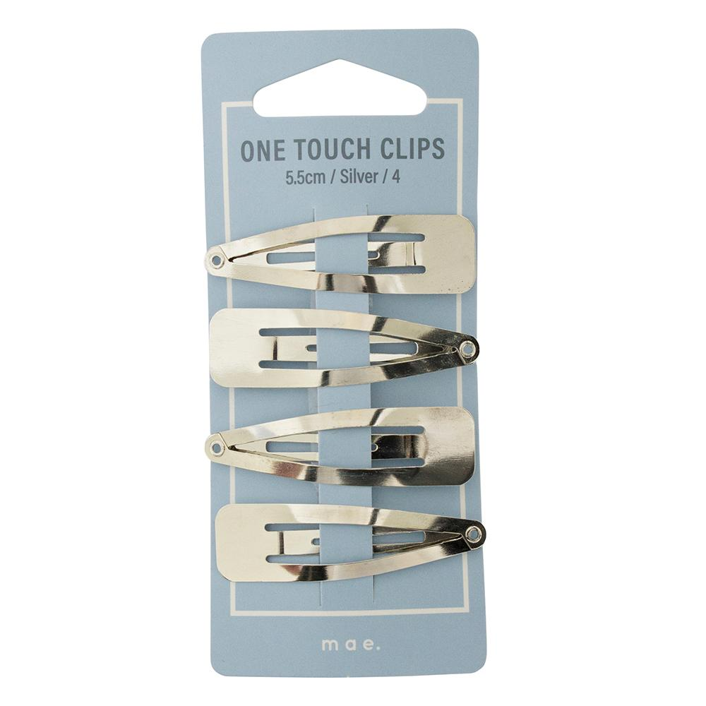 One Touch Clips 5.5cm Silver (4)