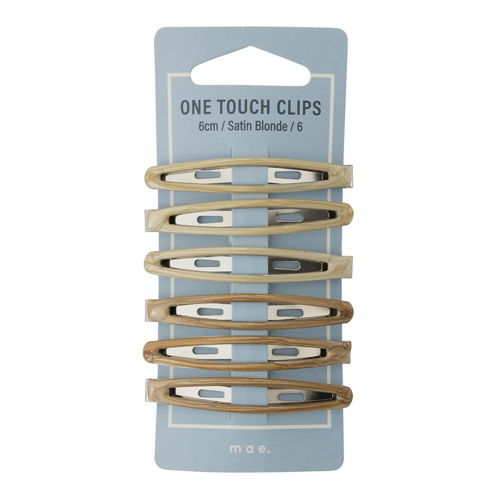 One Touch Clips 6cm Satin Blonde (6)