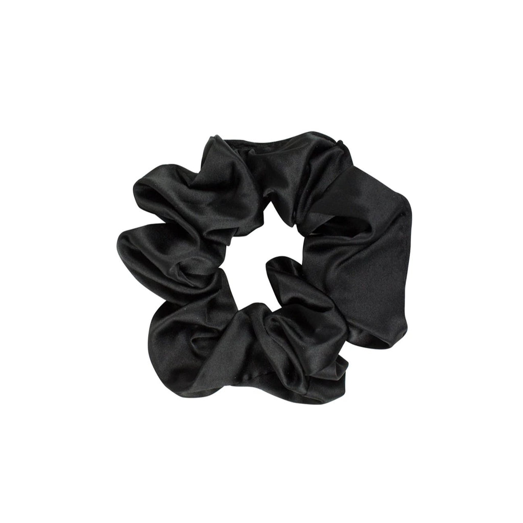 Elastic Scrunchie Satin Black