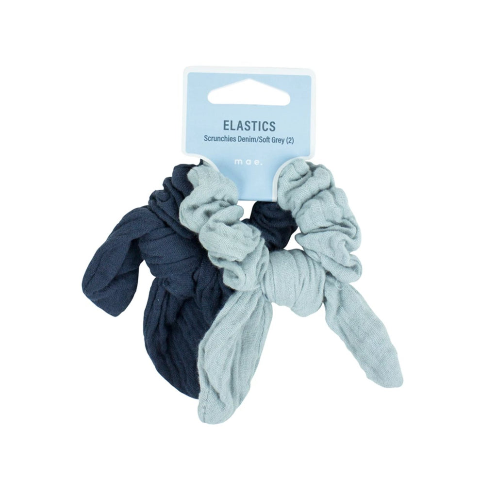 Elastics Scrunchies Muslin Denim/Soft Grey (2)