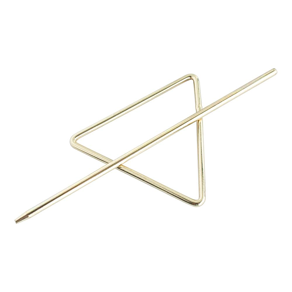 Barrette Bun Holder Triangle Gold