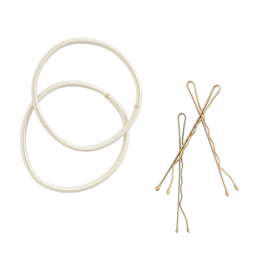 Combo Elastic and Bobby Pins Blonde (25)
