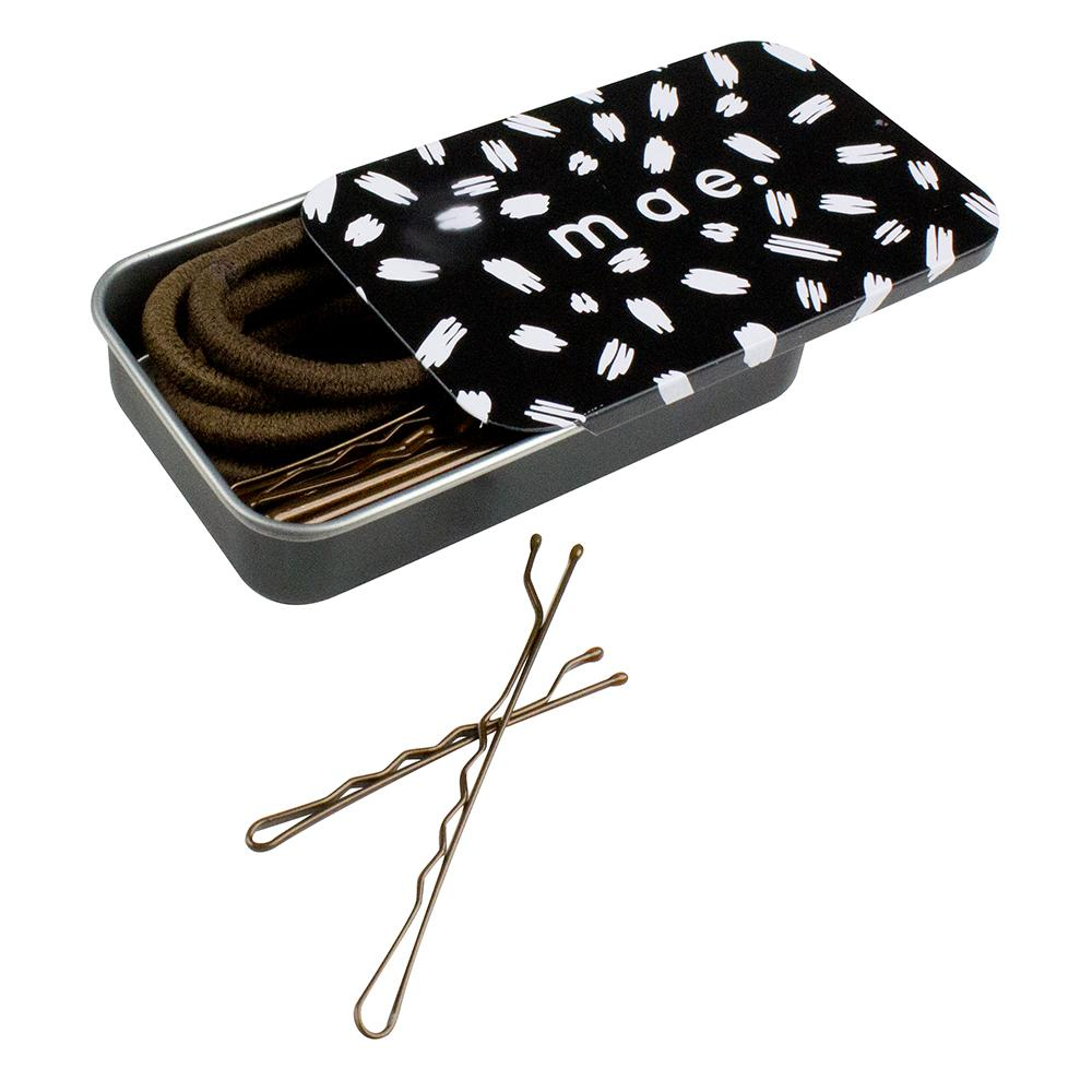 Mae 26pc Hair Accessory Tin Set Brown