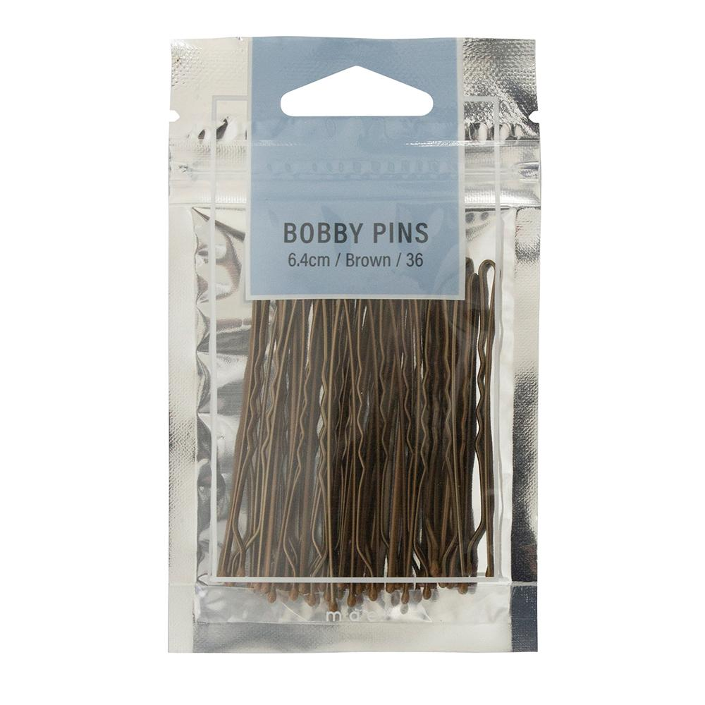 Bobby Pins 6.4cm Brown (36)