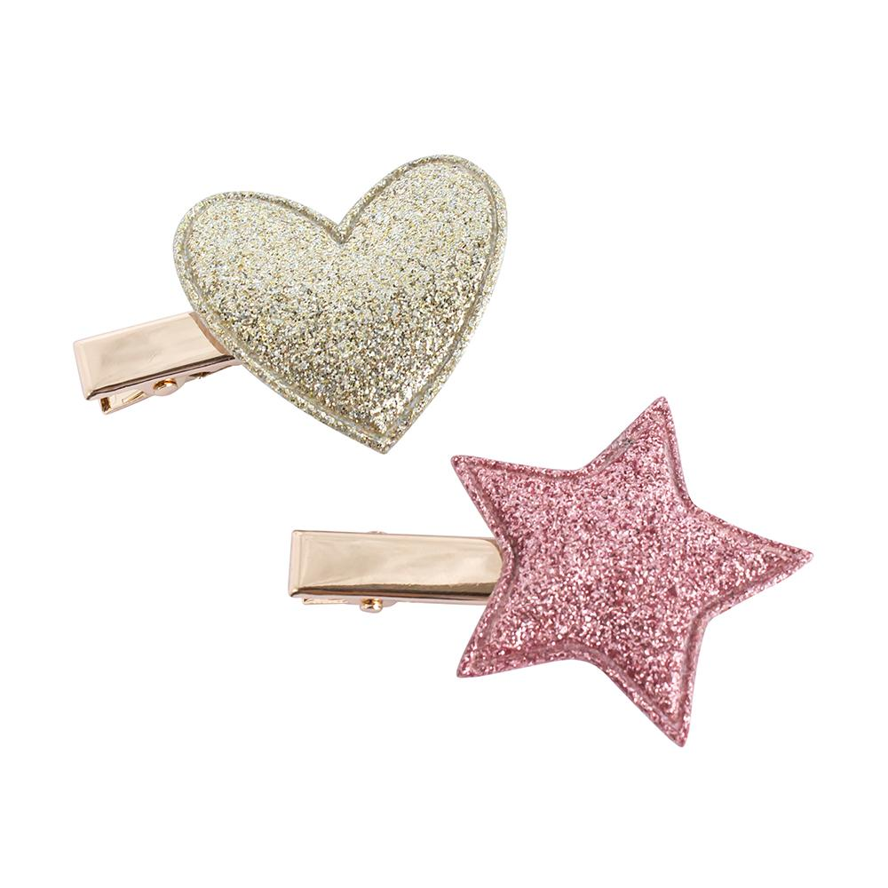 Alligator Clips Heart and Star (2)