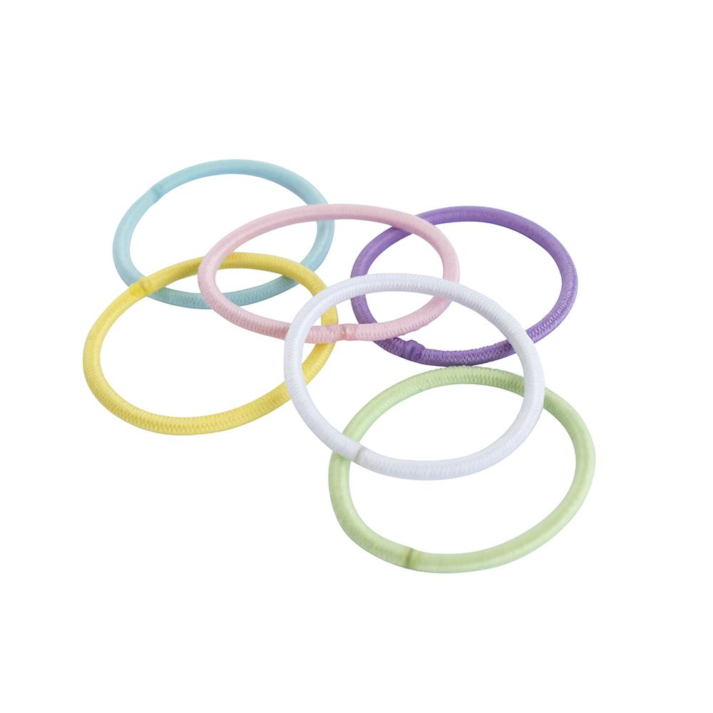 Elastics Thin Small Assorted Pastels (20)