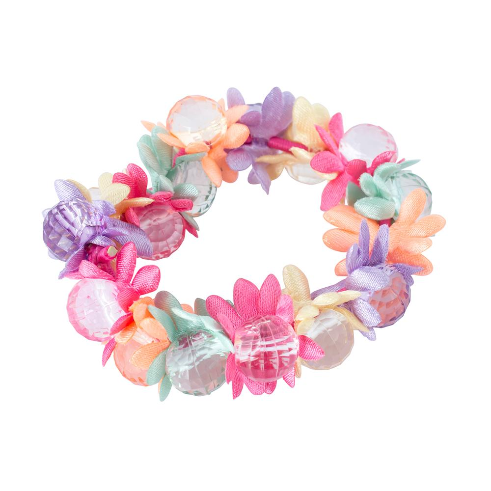 Elastics Beaded Flower Multi-Coloured