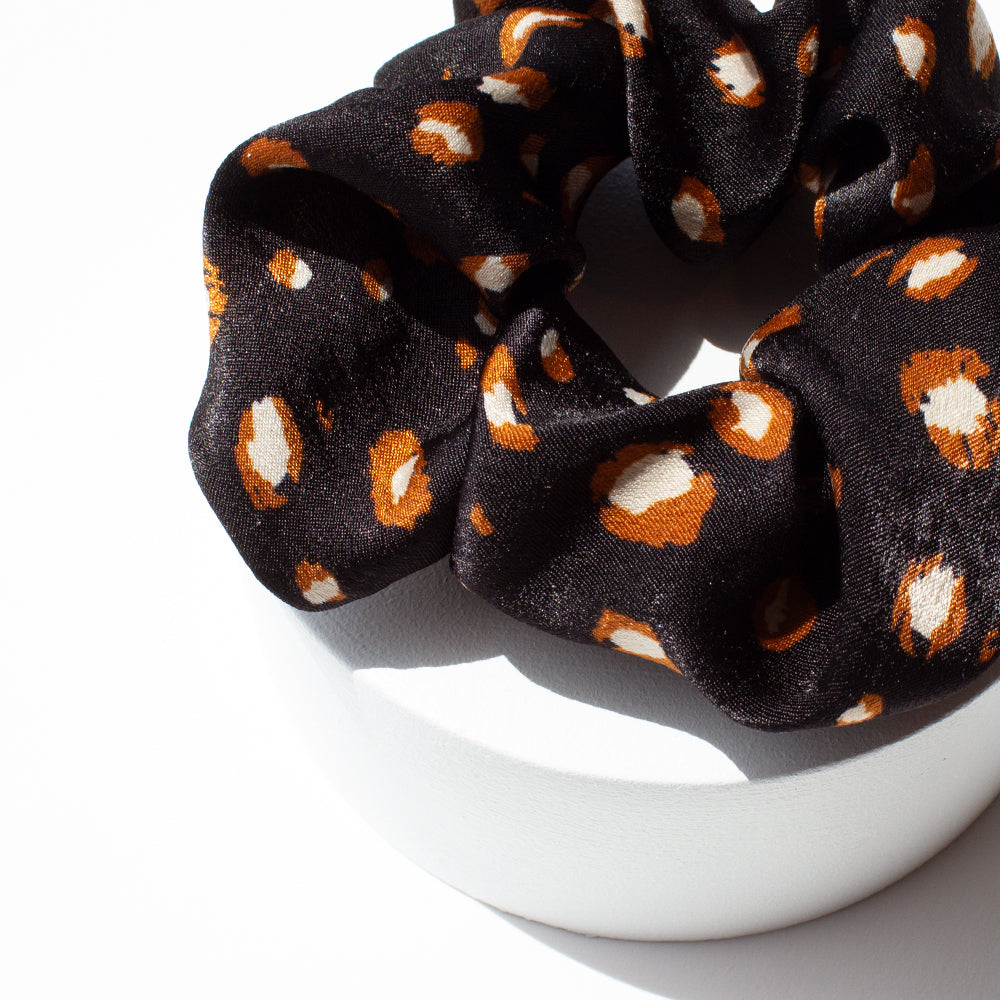 Elastic Scrunchie Stay Wild Black