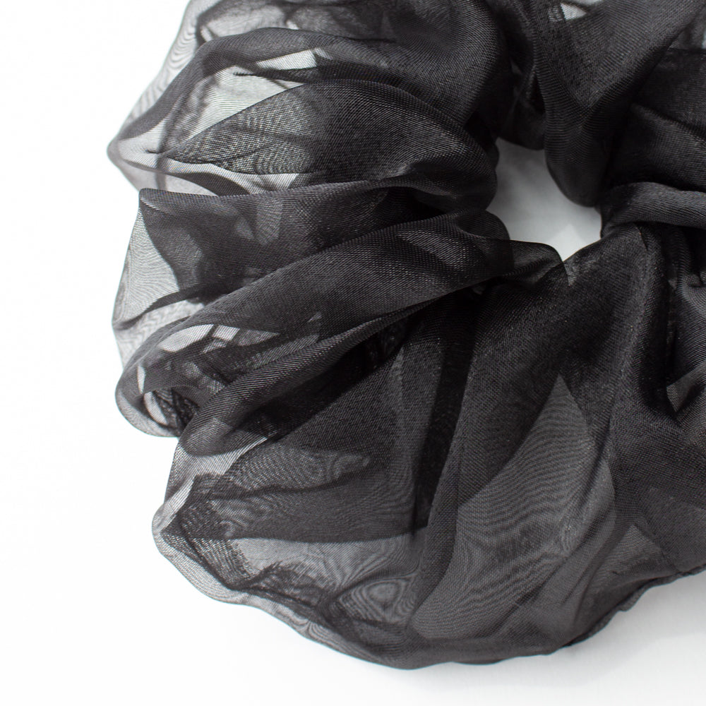 Elastic Scrunchie Extra Large Organza Black