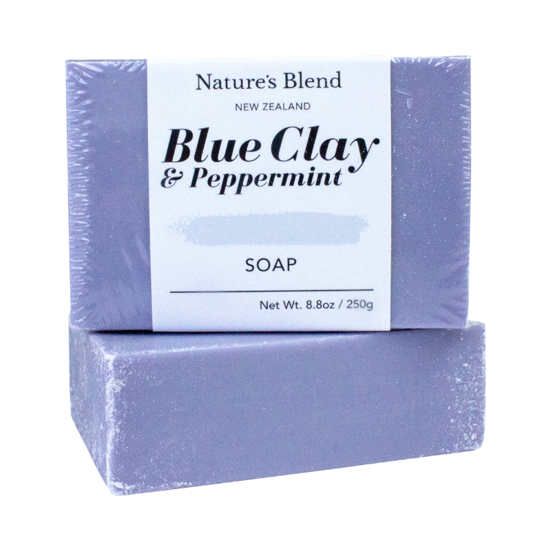 Nature's Blend Soap Bar Blue Clay & Peppermint - 250g