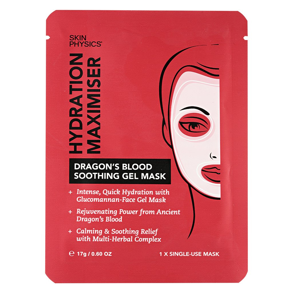 Skin Physics Dragon's Blood Soothing Gel Mask Hydration Maximiser