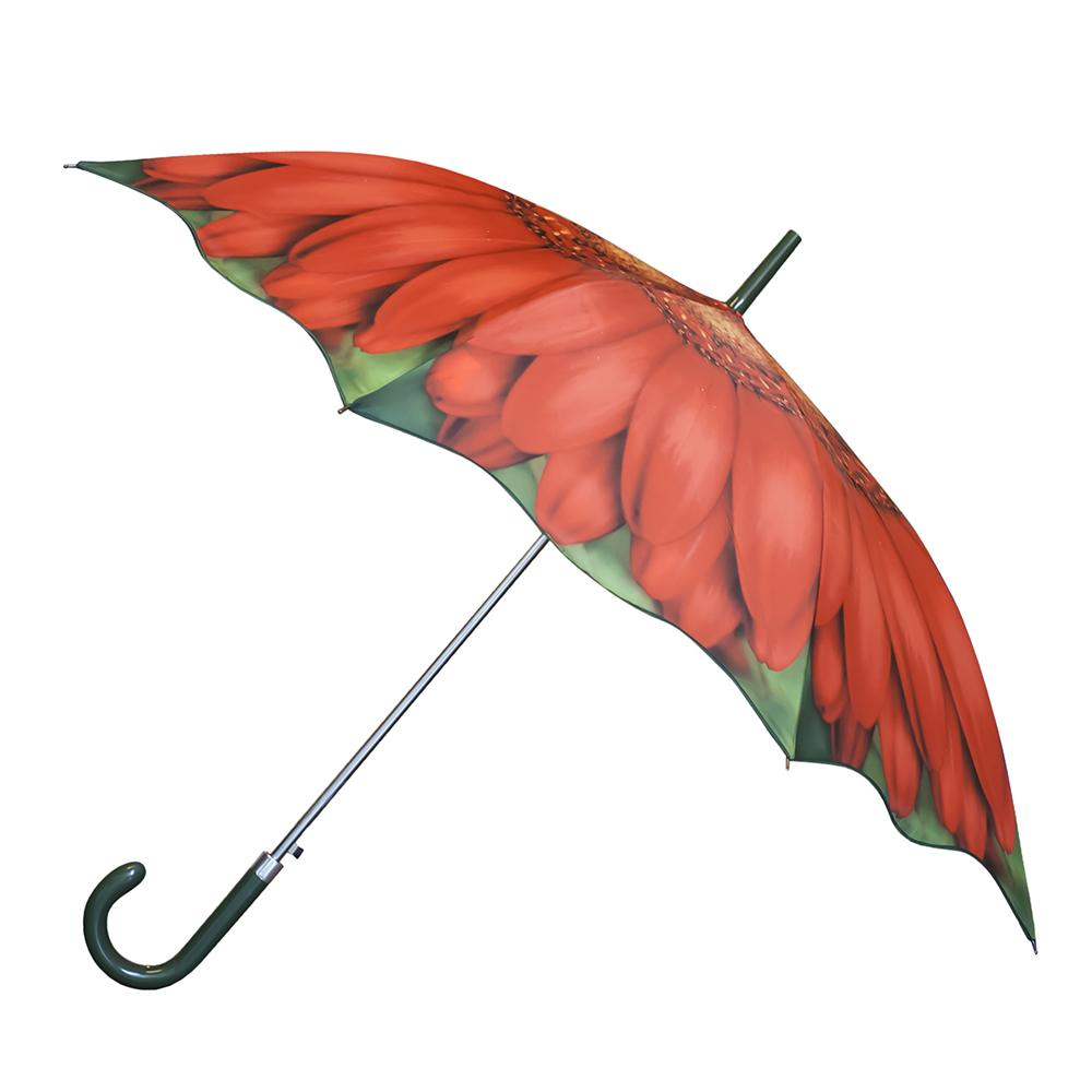 Stick Umbrella Red Gerbera