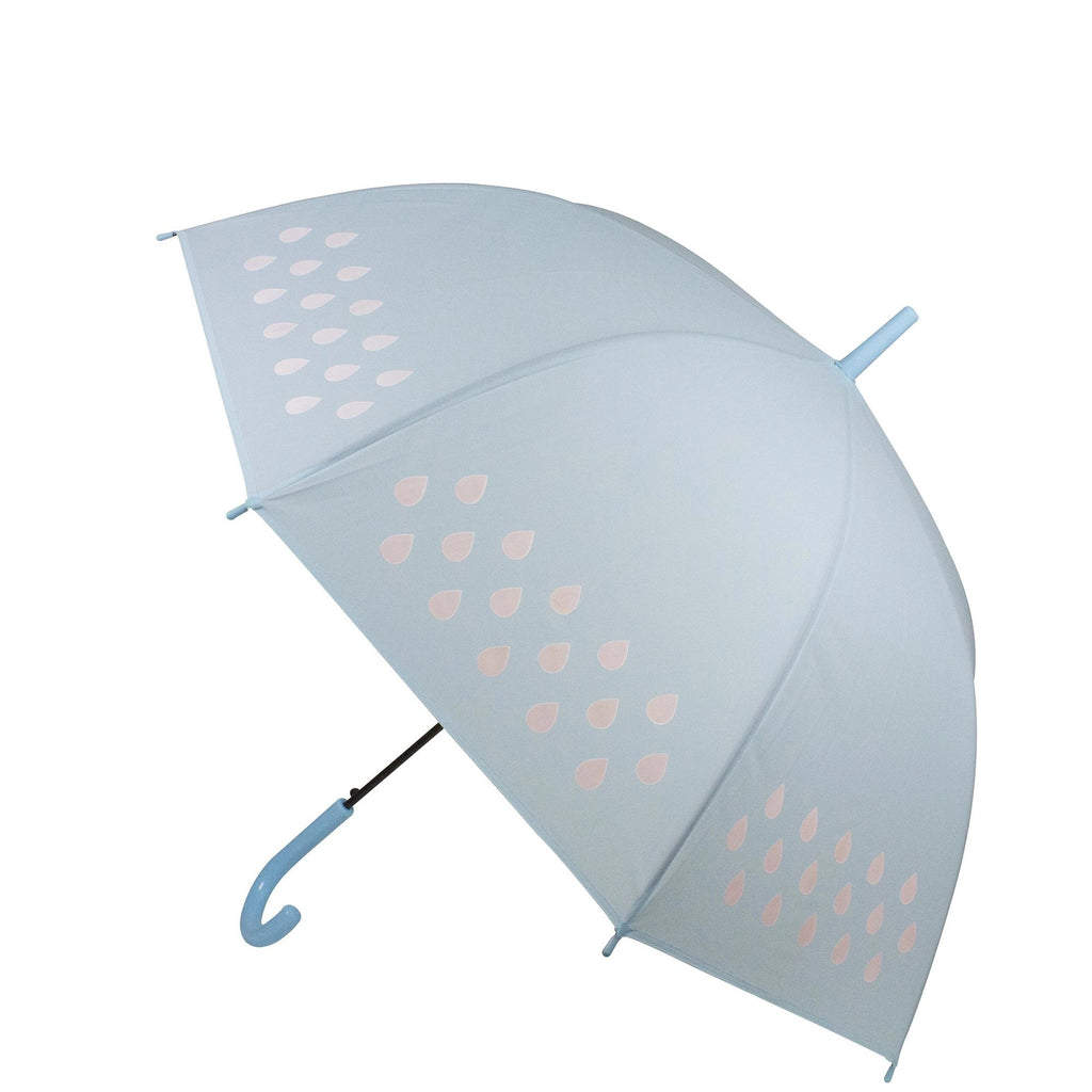 Childrens Colour Changing Stick Umbrella Auto Open Blue