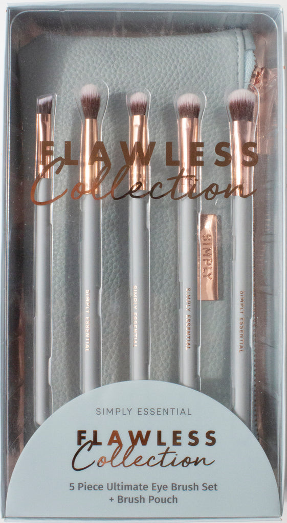 Flawless Collection 5 Piece Ultimate Eye Brush Set with pouch