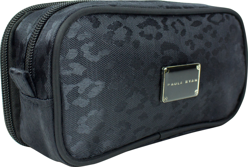 Paula Ryan Black Leopard Brush Purse