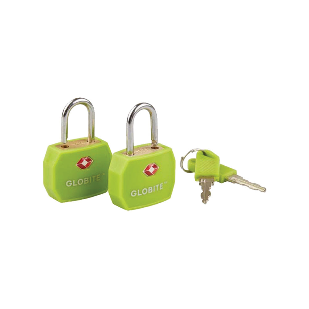 TSA Luggage Locks Green 2pk