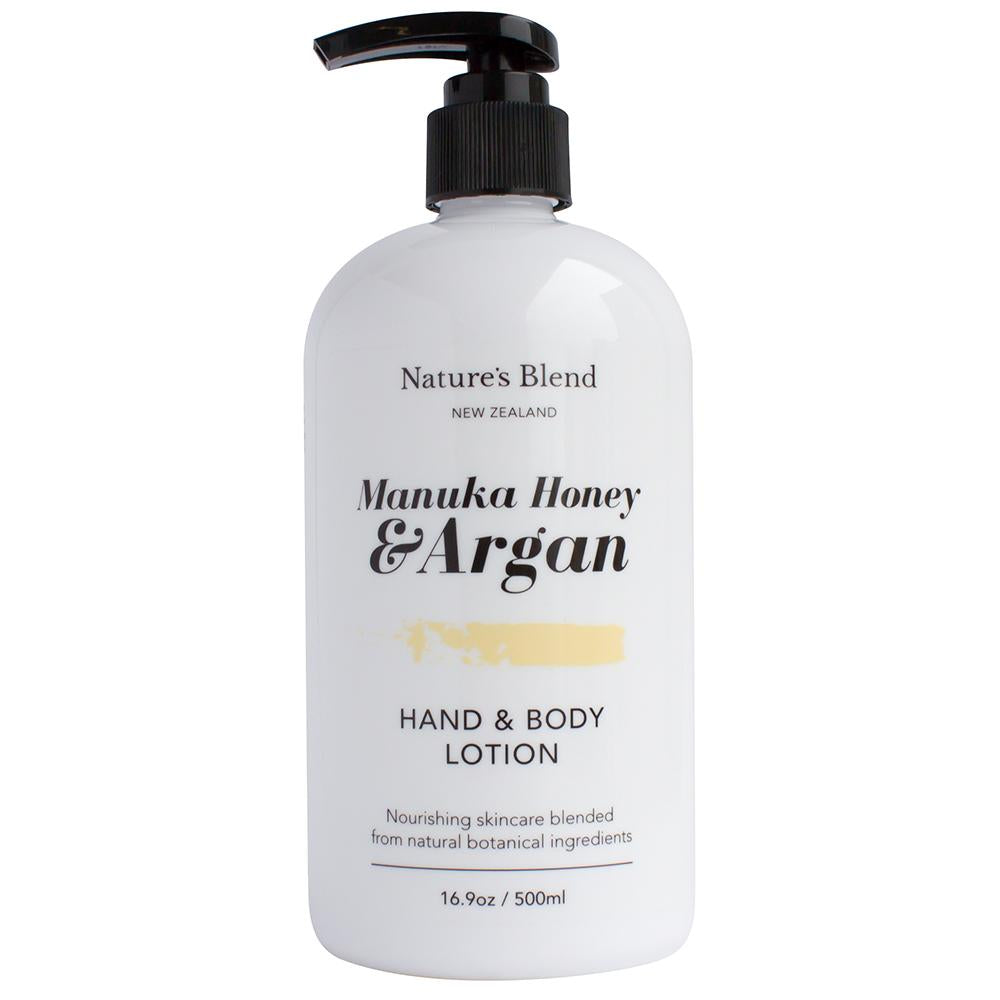 Natures Blend Hand & Body Lotion Manuka Honey & Argan - 500ml