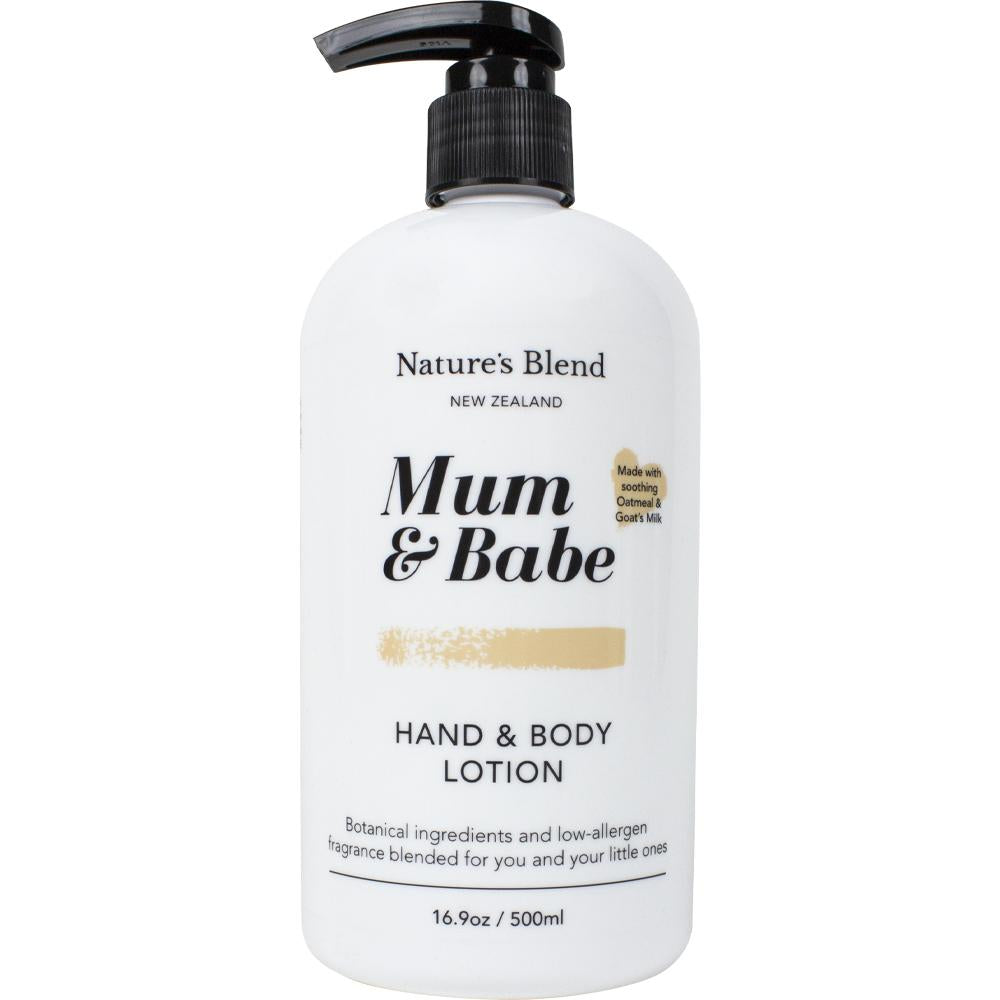 Mum & Babe - Hand & Body Lotion Oatmeal & Goat's Milk - 500ml