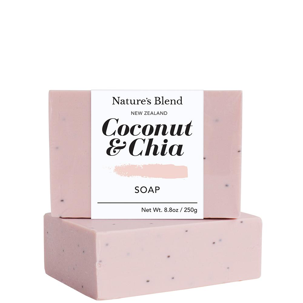 Natures Blend Soap Bar Coconut & Chia - 250g