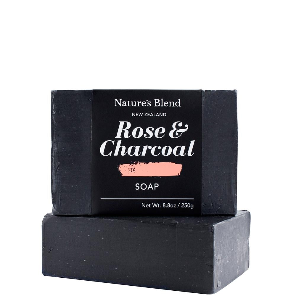Natures Blend Soap Bar Charcoal & Rose - 250g