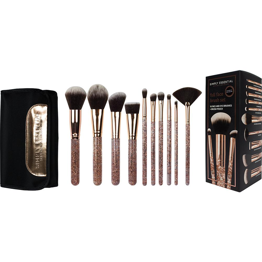 Simply Essential Supernova Collection 10pc Full Face Set in Box - Rose Gold