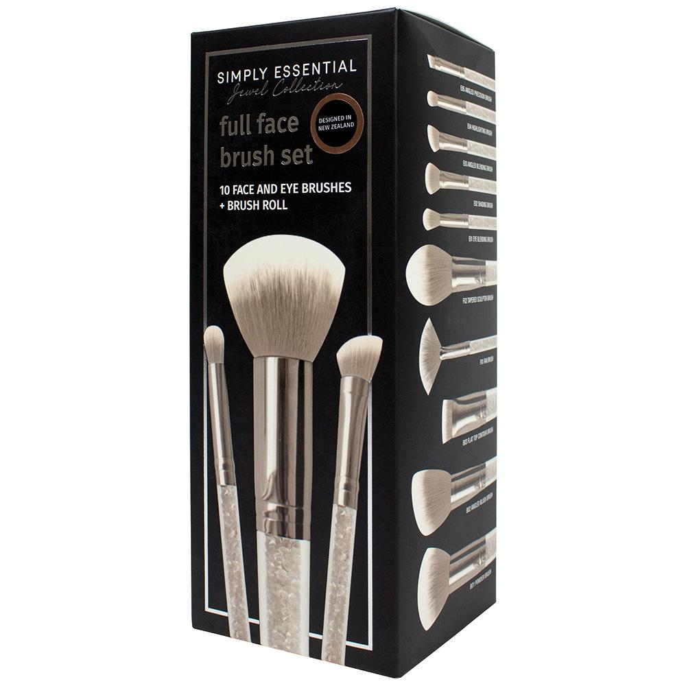 Simply Essential Jewel Collection 10pc Full Face Set in Box- Silver