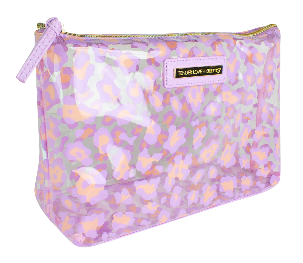 Clear Animal Holdall - Pink