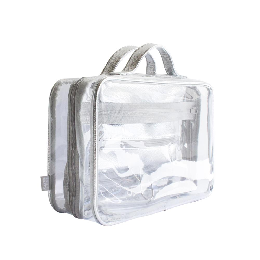 Crystal Hanging Washbag - Silver