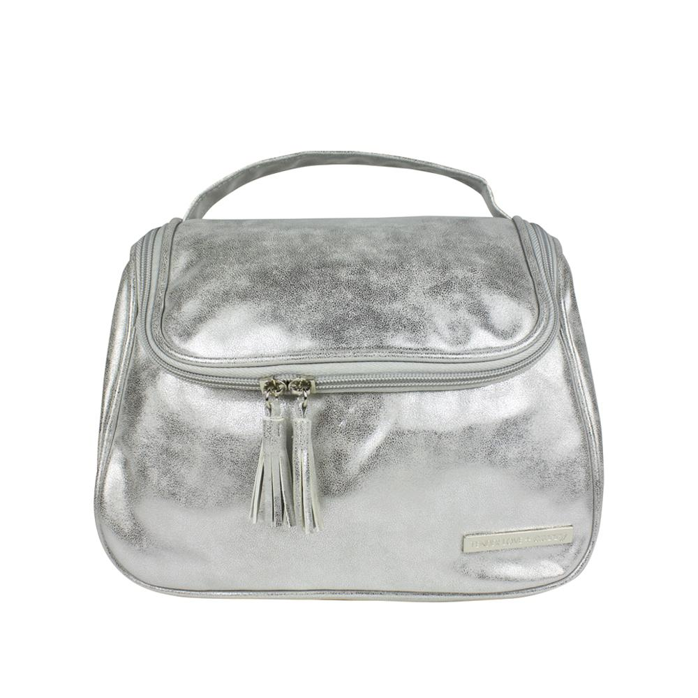 Metallic Suede - The Weekender Silver