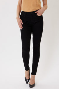 LUISA HIGH RISE SUPER SKINNY BLACK JEAN