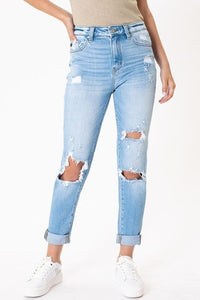 ESTHER HIGH RISE MOM JEANS